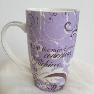 """Large Eco One """"What the mind can concieve..."""" mug"""